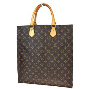 LOUIS VUITTON Sac Plat Hand Bag Monogram Leather